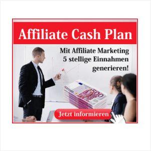 Geld verdienen mit dem Affiliate Cash Plan