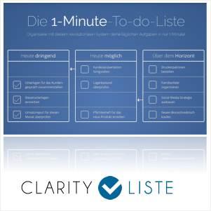 Clarity Liste - Mit Fokus mehr erreichen