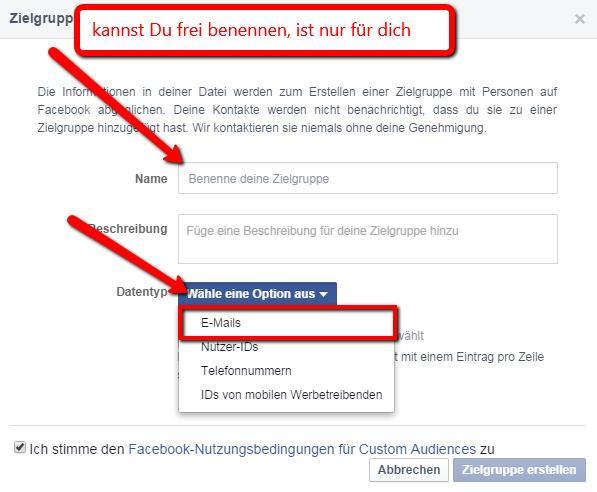 Facebook Werbung schalten - Custom Audience definieren