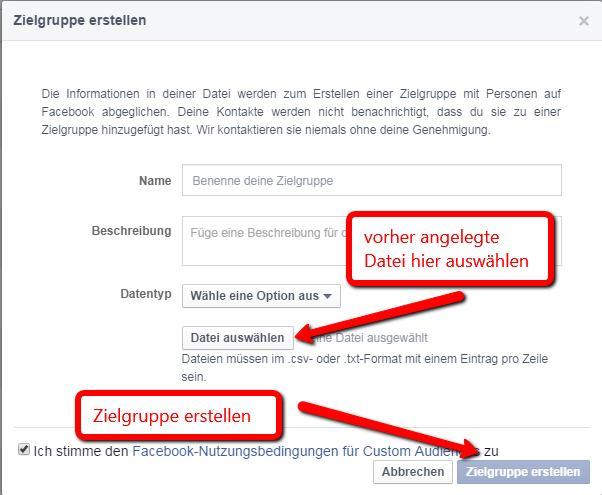 Facebook Werbung schalten - Custom Audience aktivieren