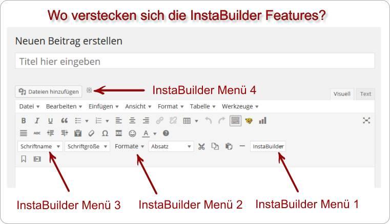 Überblick InstaBuilder Features