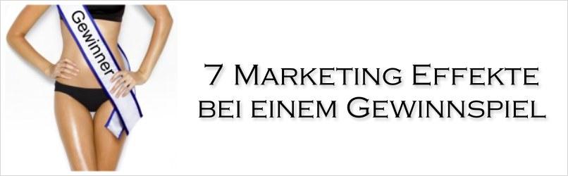 Marketing Effekt Gewinnspiel