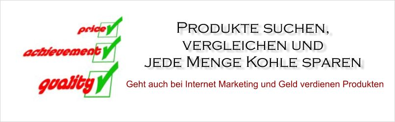 Produktvergleich Internet Marketing